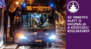 Kibővített szolgáltatás a közösségi közlekedésben az év végi ünnepi időszakban
